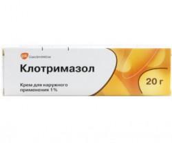 Клотримазол, крем д/наружн. прим. 1% 20 г №1 туба